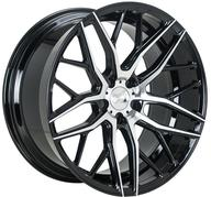"20"" 1AV WHEELS - ZX11 - BLACK / POLISHED FACE"