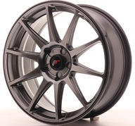 "18"" JAPAN RACING JR11 DARK HYPER BLACK"