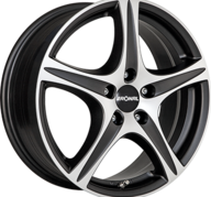 "15"" RONAL R56 - Dull Black / Polished 6x15 - ET38"
