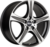 "18"" RONAL R55 SUV - Dull Black / Polished 8,5x18 - ET38"