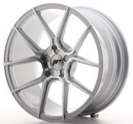 "18"" JAPAN RACING JR30 SILVER MACHINED"