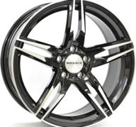 "19"" MONACO GP1 - Gloss Black / Polished 8x19 - ET45"