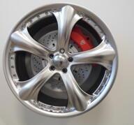 "19"" Kompletta hjul 5x100 - ACE PANTHER - Hyper silver polish - 111601"