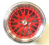 """15"""" Nya Kompletta Hjul 4x100 - ST5 Red polish - 111609"""