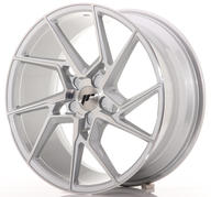 "20"" JAPAN RACING JR33 SILVER MACHINED"