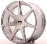 "18"" JAPAN RACING JR20 SILVER MACHINED"