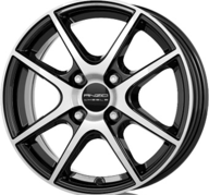 """16"""" ANZIO SPLIT - Gloss Black / Polished 6x16 - ET38"""