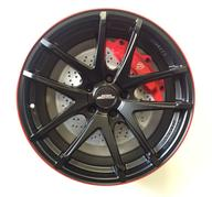 "18"" Inter Action Red Hot - Dull black / Red"