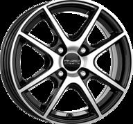 """15"""" ANZIO SPLIT - Gloss Black / Polished 6x15 - ET23"""