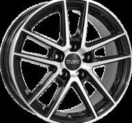 """17"""" ANZIO SPLIT - Gloss Black / Polished 7x17 - ET49"""