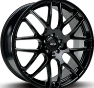 """17"""" FOX RIVA DTM - Glossy Black 7,5x17 - ET35"""