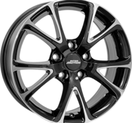 "17"" INTER ACTION PULSAR - Gloss Black / Polished 7x17 - ET45"