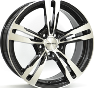 "21"" MONACO GP4 - Gloss Black / Polished 9,5x21 - ET40"