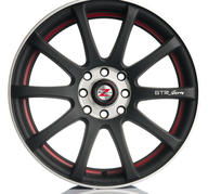 """18"""" Barzetta GTR M Black Red Polish 5x100/112 - 7,5x18 - ET35 - 66,6"""