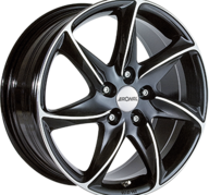 "15"" RONAL R51 - Gloss Black / Polished 6,5x15 - ET25"