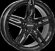 "17"" MONACO GP1 - Glossy Black 7,5x17 - ET45"