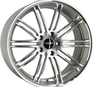 "19"" MONACO CHICANE - Hyper Silver / Polished 8,5x19 - ET35"
