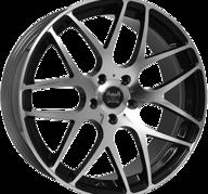 "19"" SOLEIL LXM-1 - Gloss Black / Polished 8,5x19 - ET35"