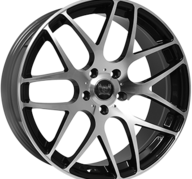 "19"" SOLEIL LXM-1 - Gloss Black / Polished 8,5x19 - ET45"