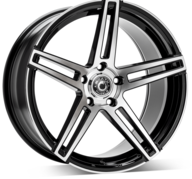 "18"" WRATH WHEELS WF1 - GLOSSY BLACK POLISHED FACE – FLOW FORMING"