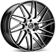 "20"" WRATH WHEELS WF4 - GLOSSY BLACK POLISHED FACE – FLOW FORMING"