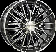 "18"" MONACO GP2 - Gloss Black / Polished 8x18 - ET37"