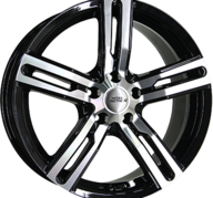 "16"" INTER ACTION KARGIN - Gloss Black / Polished 6,5x16 - ET45"