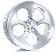 "18"" BOLA WHEELS B5 - SILVER BRUSHED POLISHED FACE"