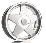 "17"" Star - Silver polished"