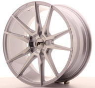 "19"" JAPAN RACING JR21 SILVER MACHINED"