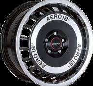"""16"""" RONAL R50 AERO - Gloss Black / Polished 7,5x16 - ET38"""