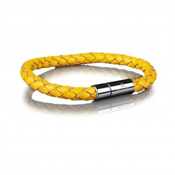 LEATHER BRACELET 6MM - STEEL
