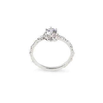 Small Sparkle Ring Silver