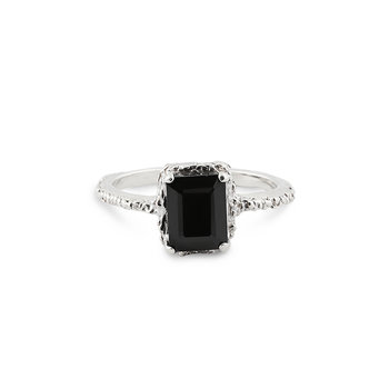 Silver Queen Spinel Ring