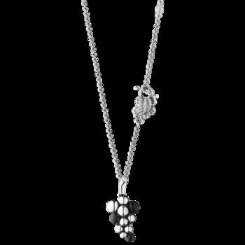 Georg Jensen MOONLIGHT GRAPES hänge - sterlingsilver med svart agat, liten