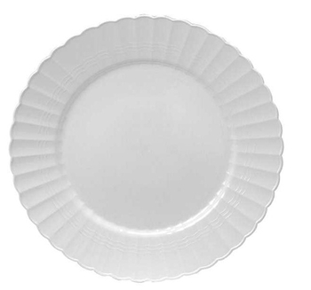 Round dinner/ Buffet  plate. White. 18 pieces.