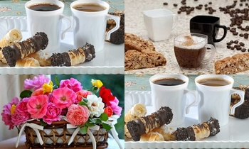 Coffee Mugs. White. 10 pieces.