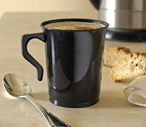 Coffee Mugs. Black 10 pieces.