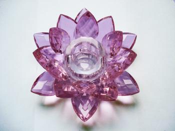 Lotus Ljusstake. Rosa