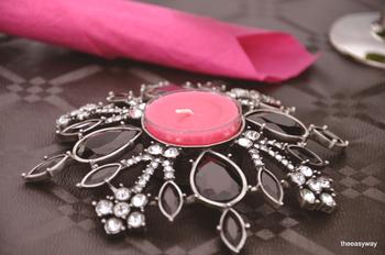 Black Drops. Candle Holder.