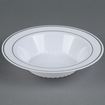 Disposable Deep plate White&Silver. 10 pieces.