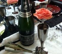Champagneglas i silver. 6 st.