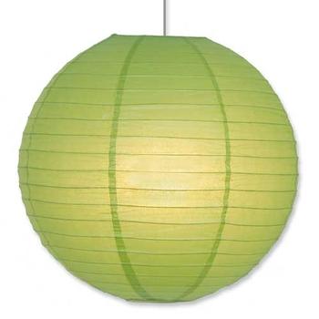 Papperslykta Grön. 30  cm