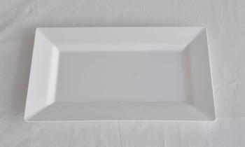 Engångsstallrik.Rektangel Vit. 10 st.