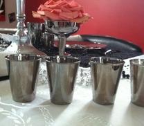 Snapsglas i silver. 12 pieces