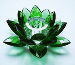 Lotus Candle Holder. Green