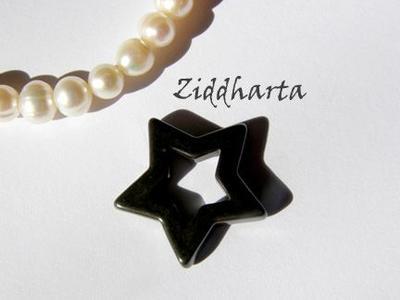 1st Hematit-hänge: STAR ca24mm