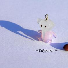 LAMPWORK världens minsta hänge? BabyElefant ROSA!