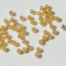 1 GÅVA per order: 50st GuldPläterade 1,5mm Klämpärlor / Crimp beads