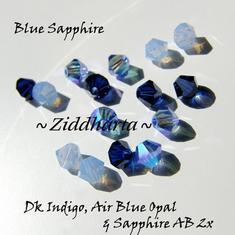 Swarovski Crystals 15st - Blue Sapphire